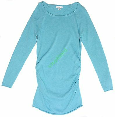 NWT Women's Maternity Aqua Long Sweater L/S Liz Lange Neck Size XS S M L XL XXL