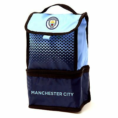Manchester City FC Official Fade Insulated Football Crest Lunch Bag