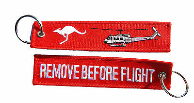 UH-1H Iroquois Huey Remove Before Flight Key Ring Luggage Tag
