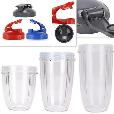 Juicer Replacement Cup For Nutribullet 18/24/32OZ w/10cm Flip Top Lid To-Go Lid