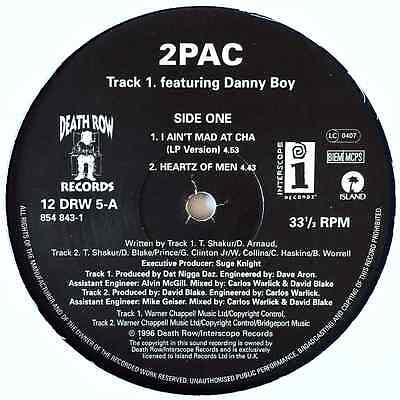"2PAC - I Ain't Mad At Cha (12"") (VG+/M)"
