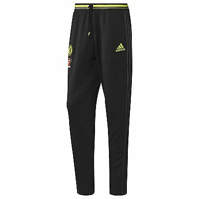 adidas Mens Gents Football Soccer Chelsea Training Pants Trousers - Black