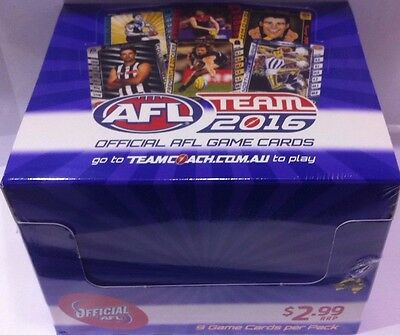 2016 Afl Teamcoach Trading Cards Sealed Box 36 Packs- Free Postage