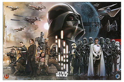 Poster - Star Wars Rogue One Rebels Vs Empire - Official - Size 36 x 24 Inch