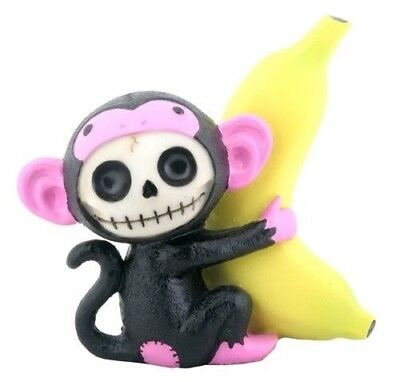 Furrybones Munky Figurine Black Monkey Gothic Cute Skeleton Skull Different Gift