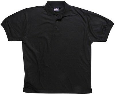 901 Black Naples Polo Shirt Xxl B210BKRXXL Portwest New