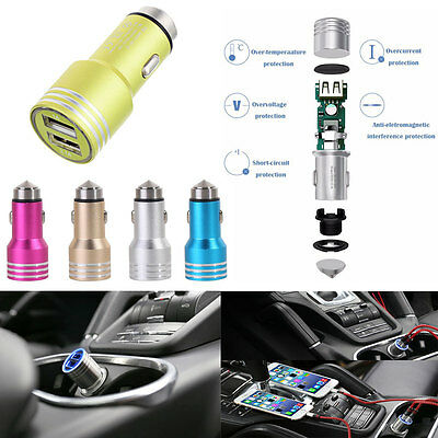Chargeur Voiture Allume Cigare Double Port Usb 3,1A Universel Iphone Samsung