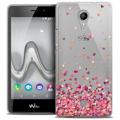 Coque Crystal Gel Wiko Tommy Extra Fine Souple Sweetie Heart Flakes