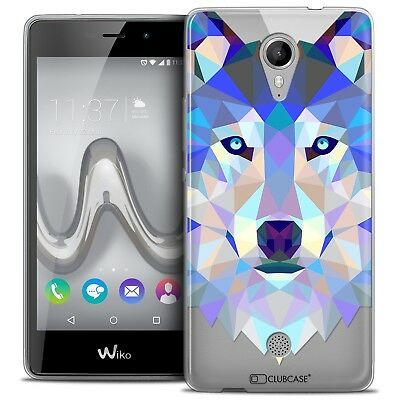 Coque TPU Gel Wiko Tommy Polygon Animal Souple Fin Loup
