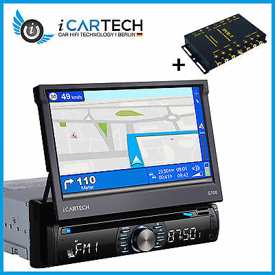 1Din Navigation GPS NAVI Radio BLUETOOTH Autoradio 7 TOUCHSCREEN DVD CD USB DVBT