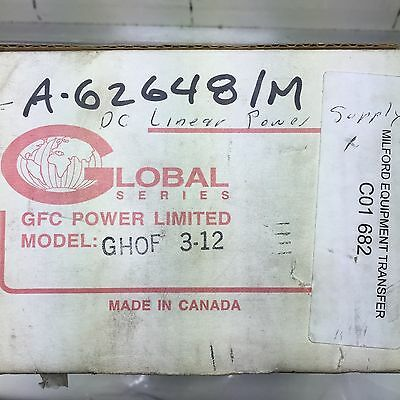 New Gfc Power Limited Ghof 3-12 Power Supply