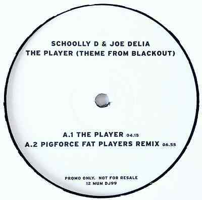 """SCHOOLLY D & JOE DELIA - The Player (Theme From Blackout) (12"""") (Promo) (VG+/NM)"""