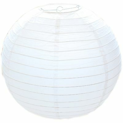 50Cm White Paper Lampshade - Classic Bamboo Style Paper Lantern Lamp Shade