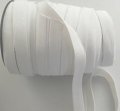 15 mm white Plain Elastic Waistband Notion sewing cuffs tailoring craft