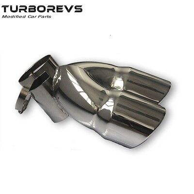 Twin Tip Stainless Steel Exhaust Pipe Muffler For Land Rover Freelander 2 Diesel