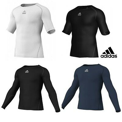 Men's Adidas Techfit Climalite Compression T-Shirt Tee Baselayer Training Top