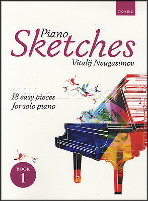 Piano Sketches 1 Sheet Music Book by Vitalji Neugasimov 18 Easy Solo Pieces