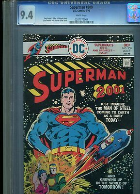 Superman #300 Nm 9.4 Cgc White Pages Swan Cover And Art