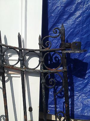 Big Old Antique 1920's Spanish Revival Gothic Iron Spear Entry Driveway Gates