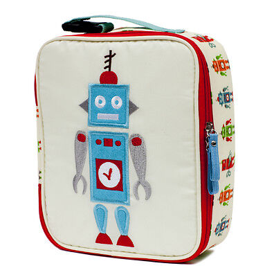 Pink Lining Childs Insulated Lunch Box / Bag - Design Robbie Robot