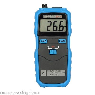 Bside BTM01 K Type Thermocouple Probe LCD Display Digital Thermometer C/F Switch