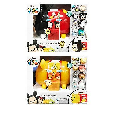 Disney Tsum Tsum Collector Case Mickey Mouse/ Winnie the Pooh with 12 Figures