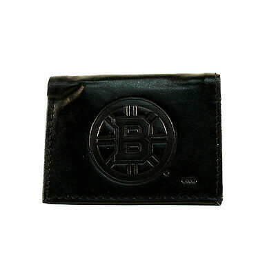 Boston Bruins Black Leather Tri-fold Wallet