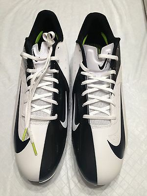 3890e37899 NWOB Sz 14.5 Nike Vapor Talon Elite Black White Low Hyperfuse Football Cleat