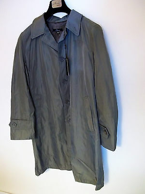 Riviera Milano Men's Khaki Trench Coat European size 50,NEW!
