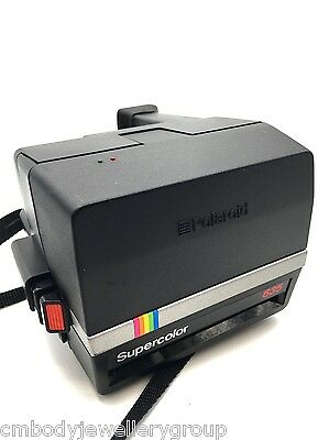 Polaroid SuperColor 635 CL Land Camera, Using 600 Film TESTED