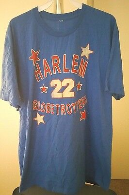 Harlem Globetrotters Classic Blue Curly Neal #22 XL T-Shirt