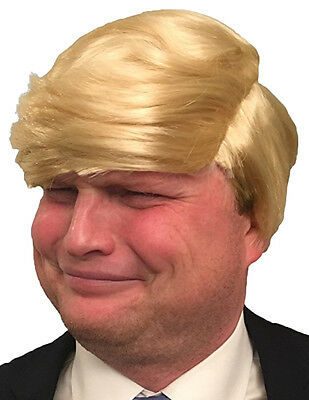 Hilarious Donald Trump Wig (FREE USA Sunglasses & FREE Comb) Trump Costume