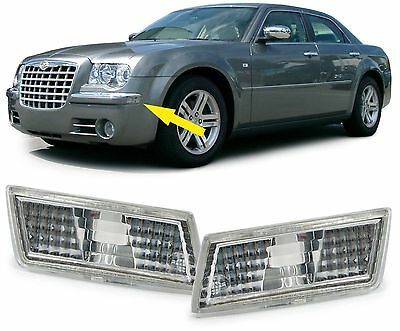 Crystal Clear Bumper Side Repeaters Indicators Position Lights For Chrysler 300C