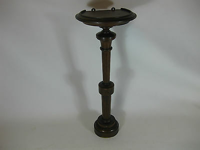 "Vintage Wooden Wall Pedestal 46cm (about 18"") Tall  * REPAIRED *"