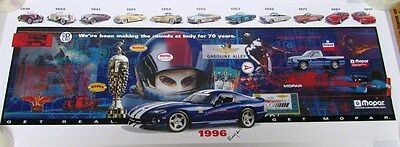 1996 Dodge Viper GTS Indy 500 & Chrysler's Pace Car History Buddy Lazier Signed