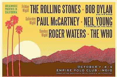 Desert Trip Concert Tickets (4 available, $900 each) AVAILABLE AT WILL CALL ONLY