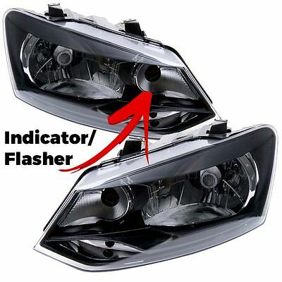 Volkswagen Polo 6R 2009-2014 Headlight Headlamps 1 Pair O/s & N/s