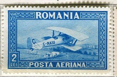 ROMANIA;  1928 early AIR issue Mint hinged 2L. value
