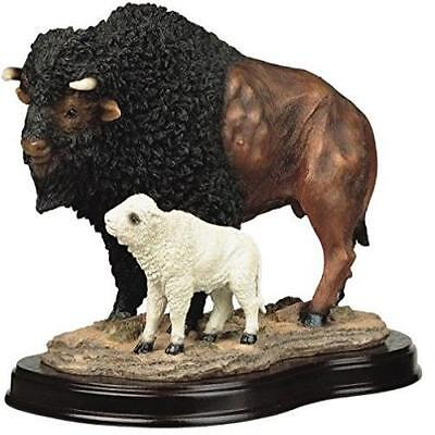 Stealstreet Buffalo With Baby Collectible Wildlife Figurine Sculpture Statue Mod