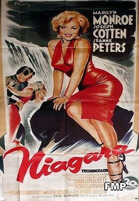 Niagara - Marilyn Monroe / Cotten - Reissue Large French Movie Poster