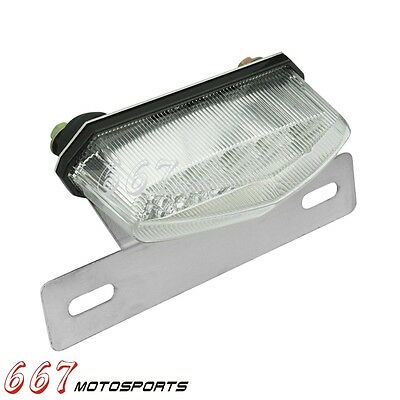 Motorcycle LED Brake Rear Tail Turn Signal License Plate Light For Suzuki Clear