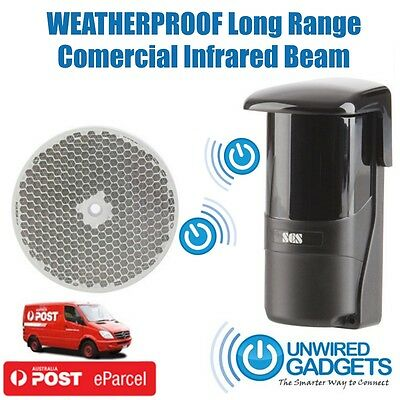 NEW Long Range Entry Beam Waterproof Driveway Alert System Commercial Grade