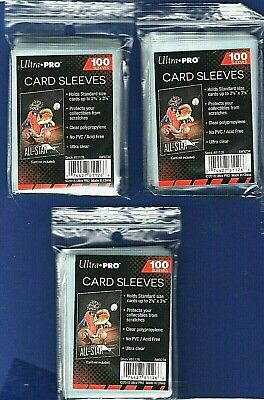300-Ultra Pro Baseball Soft Clear Card PLASTIC Penny Sleeves  Trading