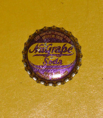 Nugrape Soda Bottle cap Metal With Cork Inside Nice Graphics!
