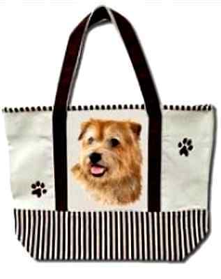 NORFOLK TERRIER - 100% Cotton Canvas, heavy duty, X-Large TOTE BAG
