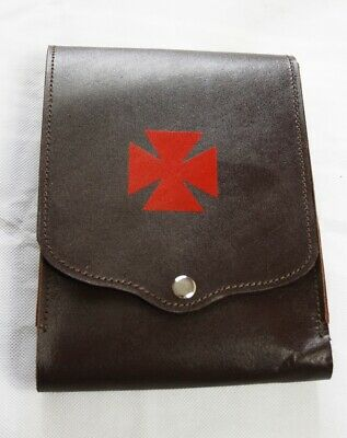 Knights Templar Leather Belt Pouch  (Free Delivery)