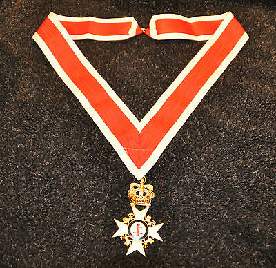Knights Templar Past Preceptors Collarette and Jewel (Free Delivery)
