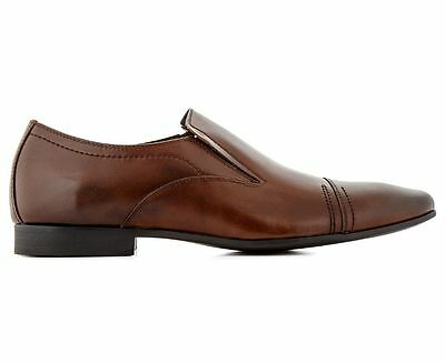 Mens Julius Marlow Yves Brown Leather Slip On Work Formal Dress Men's Size Shoes