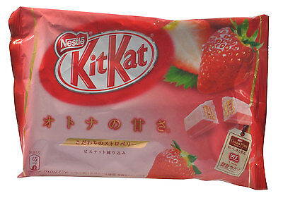 New Strawberry Flavoured Nestle Chocolate Kit Kat Japan Oz Seller FREE POST
