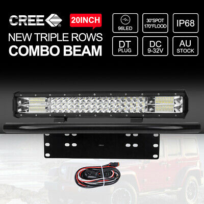 20 inch 12V CREE LED Light Bar Combo Beam Off Road Work Driving Lamp